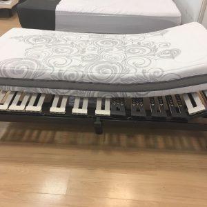 Somier Calvin articulado + colchón space visco