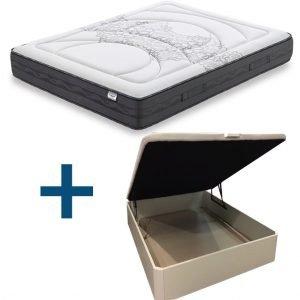 Pack colchón Flex Galaxy con canape de madera